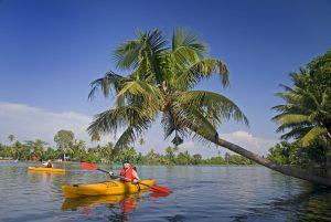 Kayaking in India, Kerala.