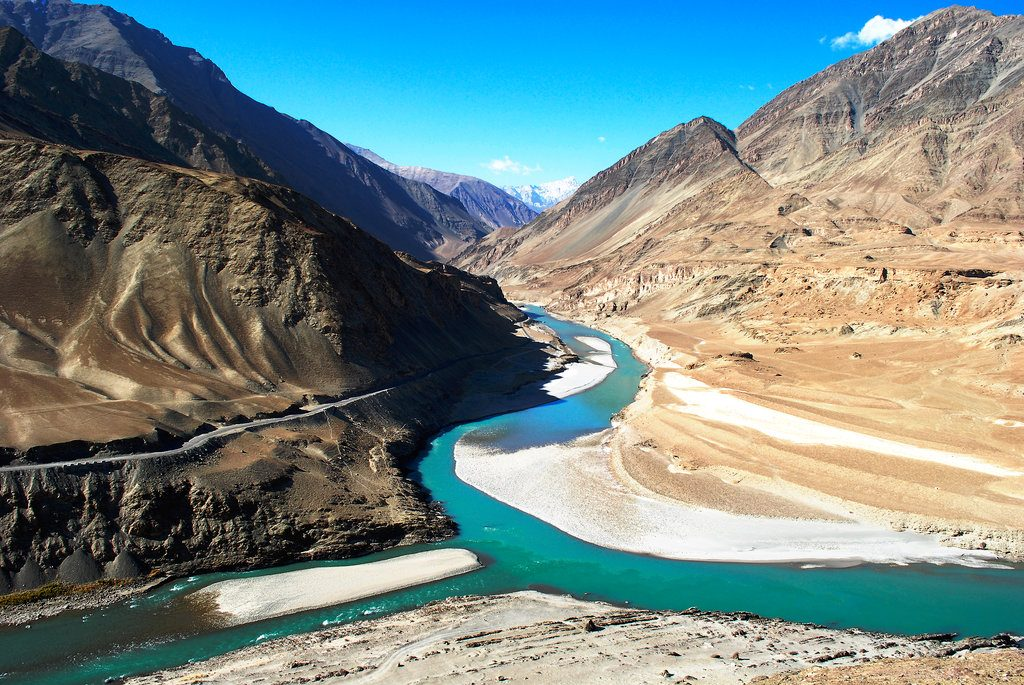 Confluence of Indus and Zanskar River