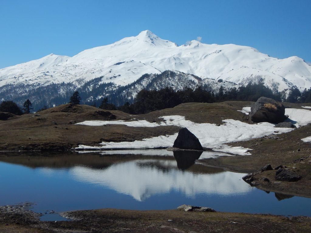 Pangarchulla peak from Tali Lake
